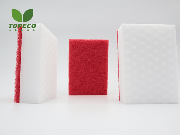 compound magic sponge with scouring pad