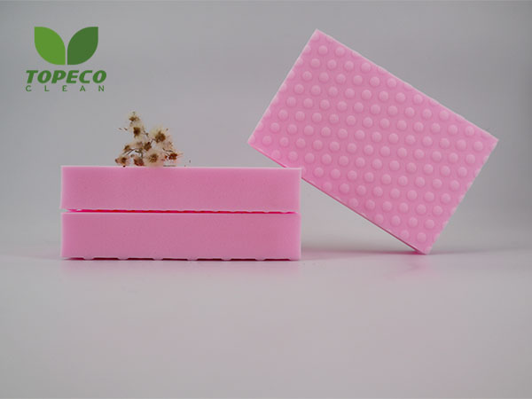 pink high desity magic sponge