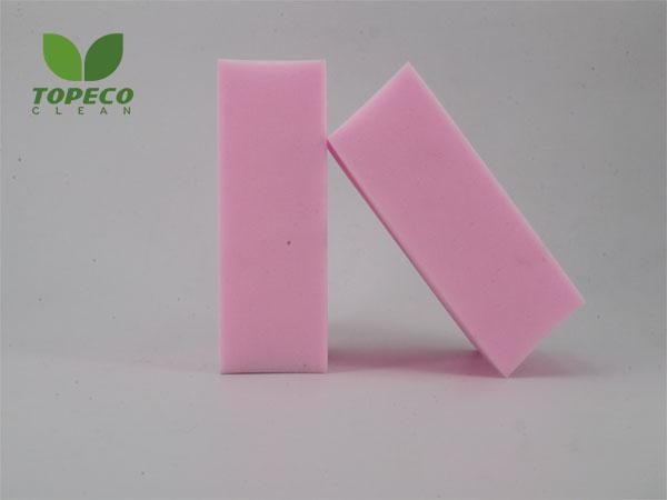 pink high-density magic sponge