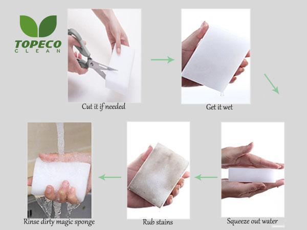 how to use magic eraser sponge