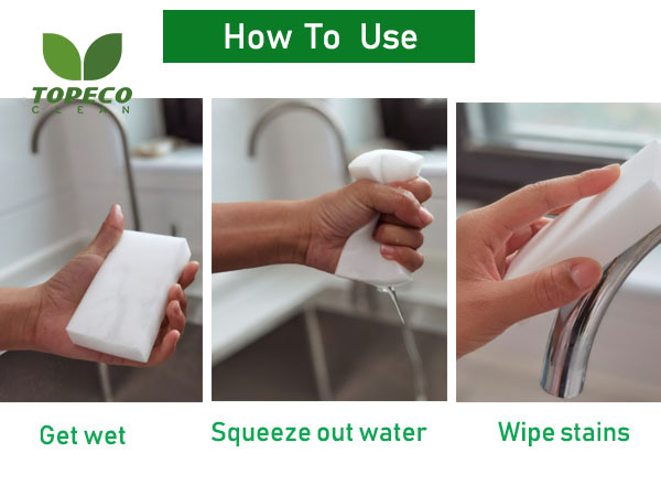 how to use magic cleaning sponge pad