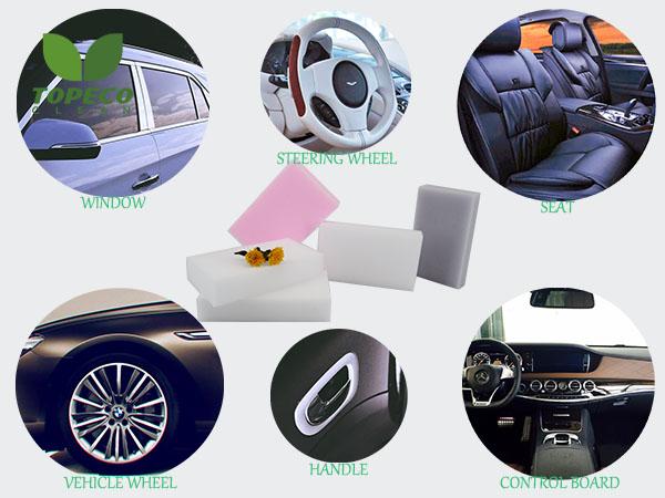 magic sponge on car
