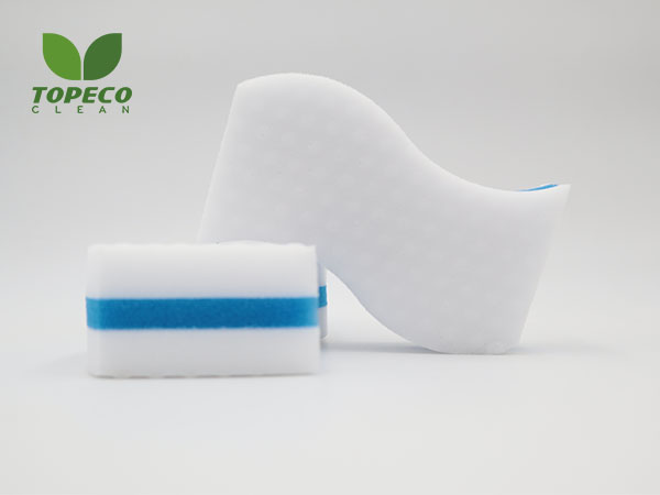 S-shaped compressed magic cleaning sponge