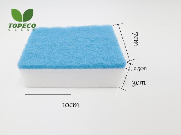 magic nanosponge with scouring pad