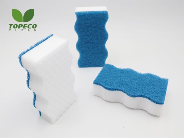 compound magic sponge with wavy shape
