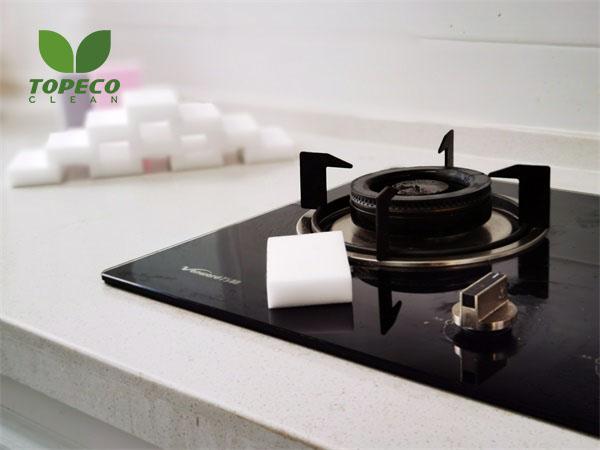 stove top cleaning melamine eraser