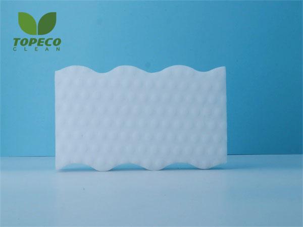 wavy foam shape white magic eraser sponge