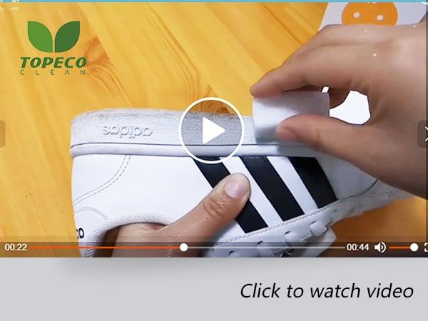 magic sponges cleaning shoes