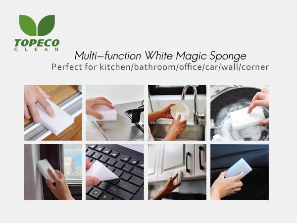 white magic sponge eraser cleaner