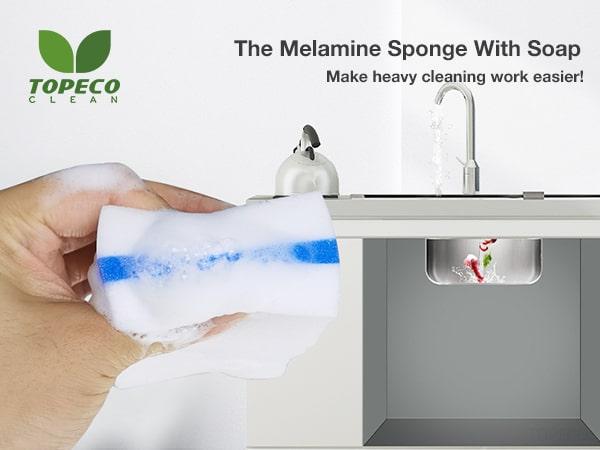 melamine sponge with soap