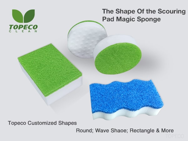 magic eraser with scouring pad