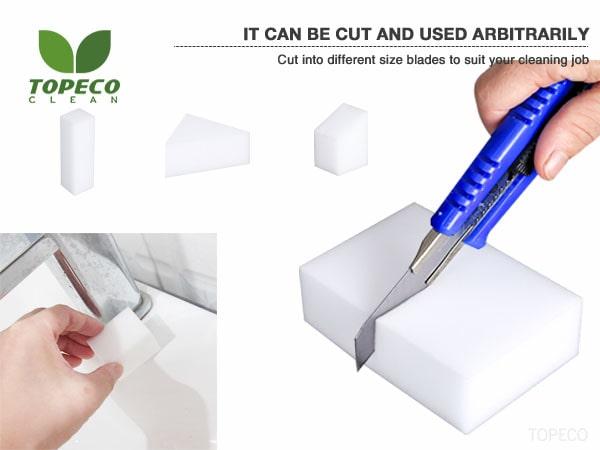 white melamine microfibre foam